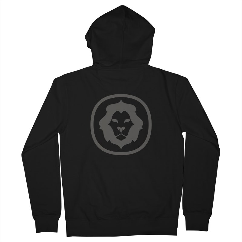 Delicious Lion Icon Men's Zip-Up Hoody by Delicious Design League
