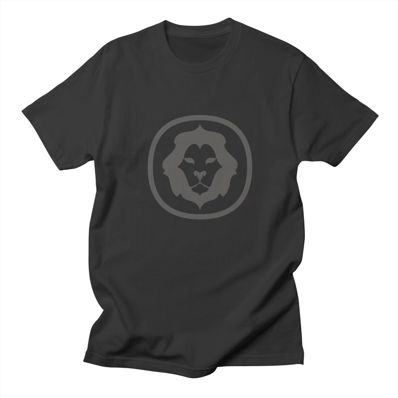 Delicious Lion Icon in Men's Regular T-Shirt Smoke by Delicious Design League