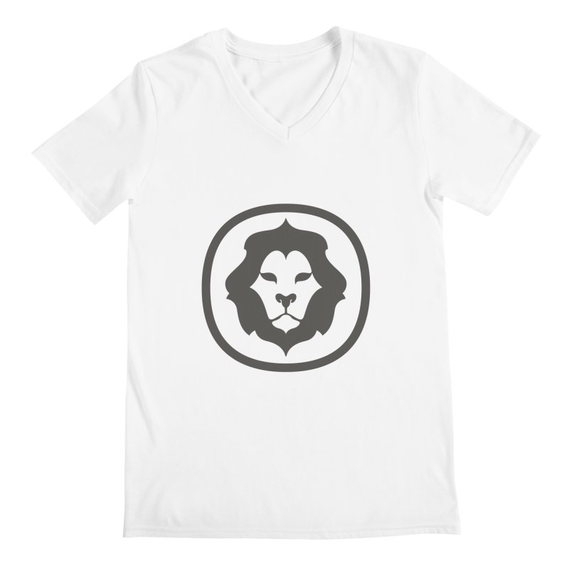 Delicious Lion Icon Men's V-Neck by Delicious Design League