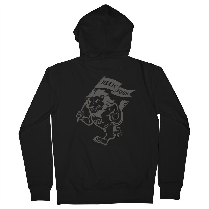 Classic DDL Mascot Men's Zip-Up Hoody by Delicious Design League