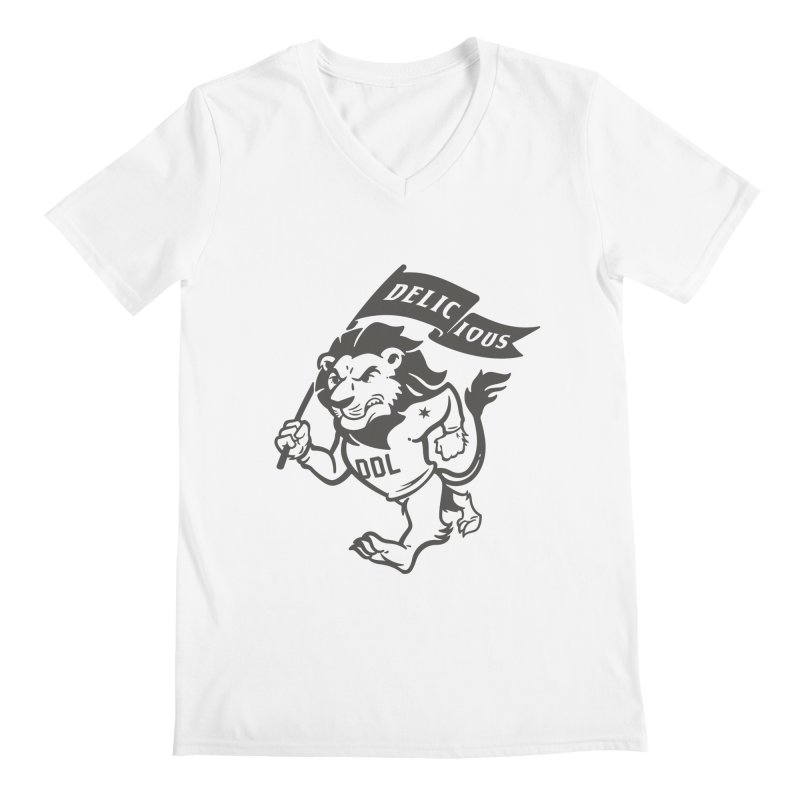 Classic DDL Mascot Men's V-Neck by Delicious Design League