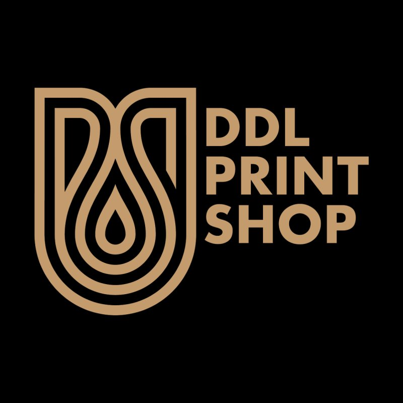DDL Print Shop Logo Men's Zip-Up Hoody by Delicious Design League