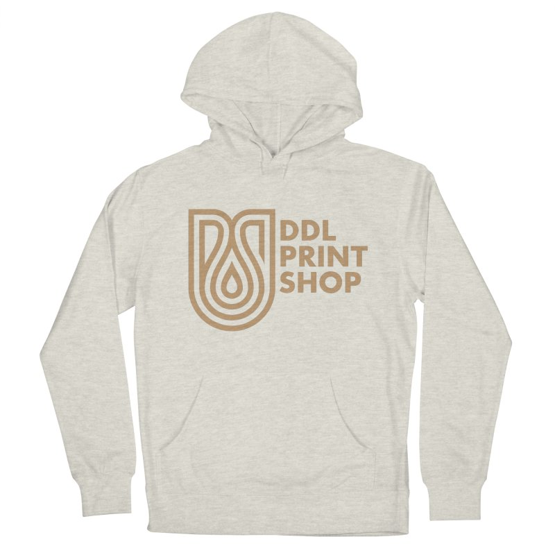 DDL Print Shop Logo in Men's French Terry Pullover Hoody Heather Oatmeal by Delicious Design League