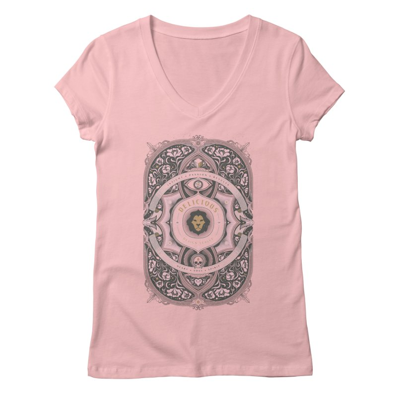 Heart & Soul of DDL Women's V-Neck by Delicious Design League