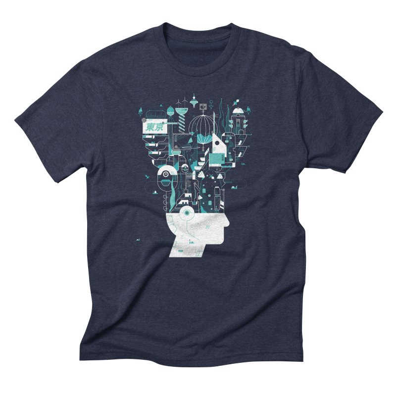 Tokyo Men's Triblend T-Shirt by deliciousdesignleague's Artist Shop
