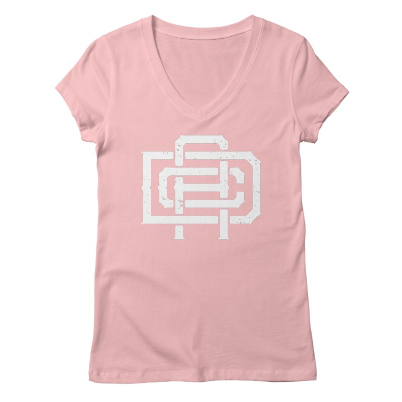 Athletic Design Club Monogram Women's V-Neck by Delicious Design League