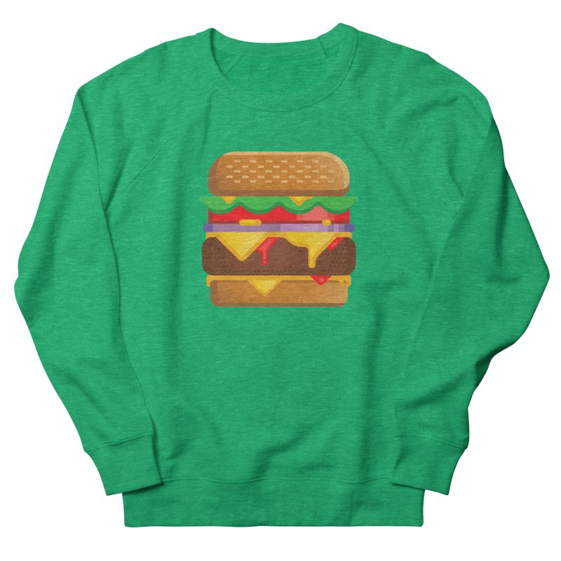 Burger Women's French Terry Sweatshirt by Delicious Design Studio
