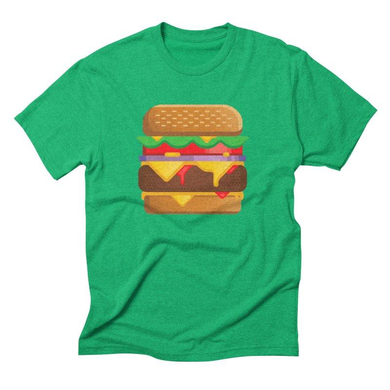Burger Men's Triblend T-Shirt by Delicious Design Studio