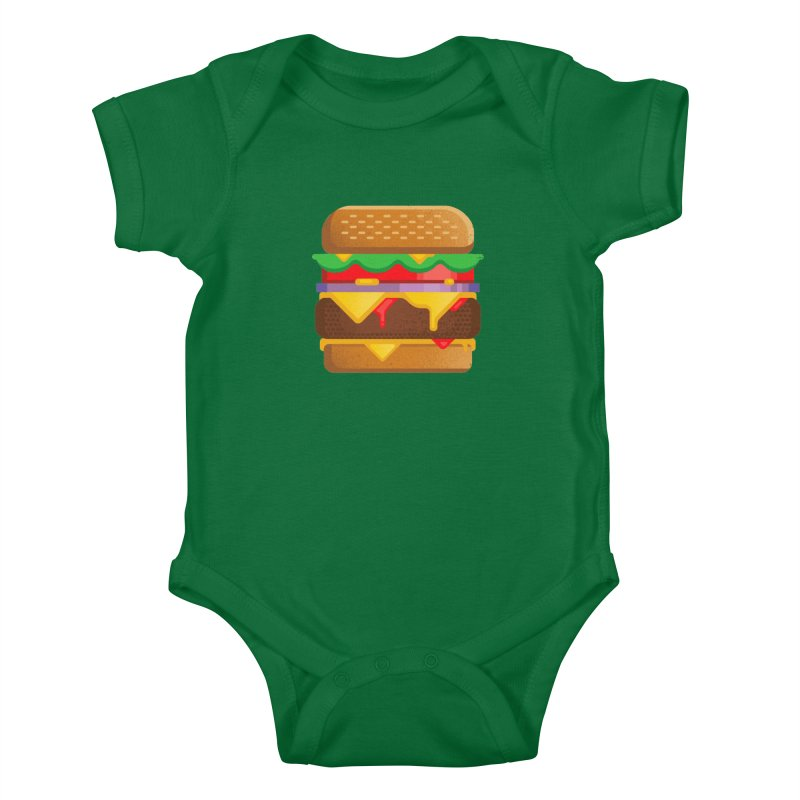 Burger Kids Baby Bodysuit by deliciousdesignleague's Artist Shop