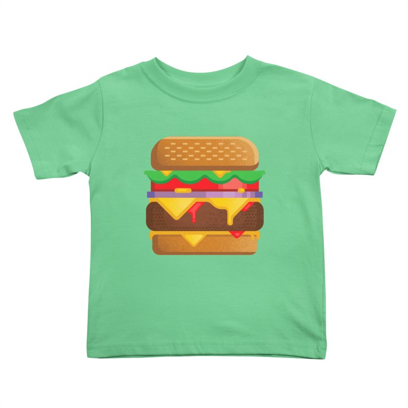Burger Kids Toddler T-Shirt by deliciousdesignleague's Artist Shop