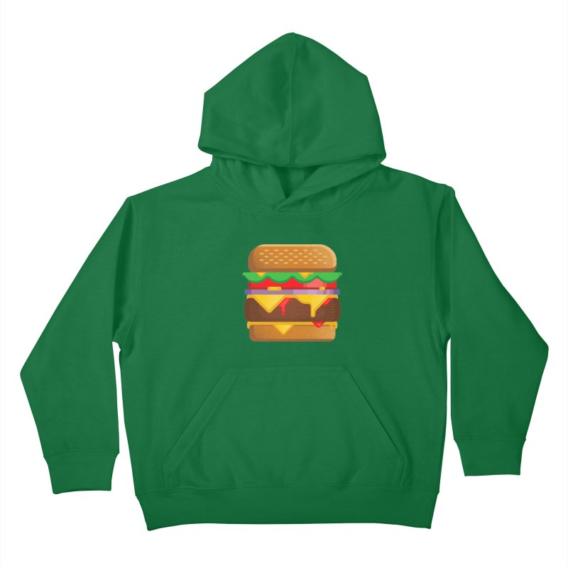 Burger Kids Pullover Hoody by deliciousdesignleague's Artist Shop