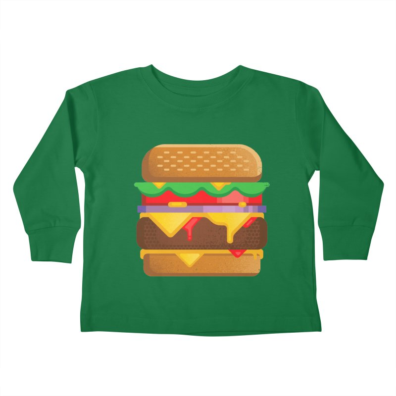 Burger Kids Toddler Longsleeve T-Shirt by Delicious Design Studio