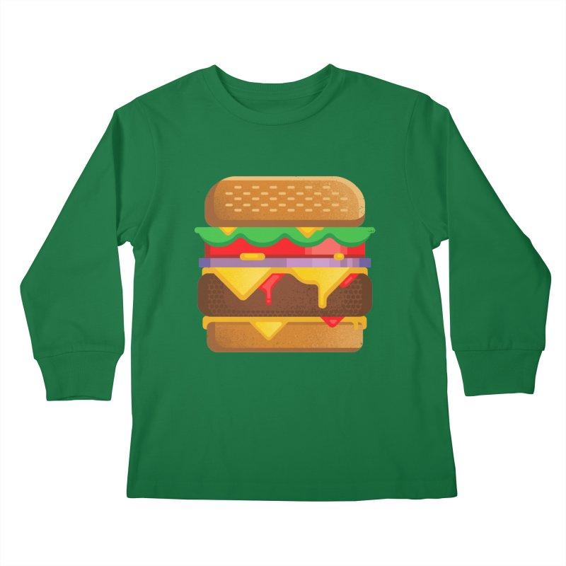 Burger Kids Longsleeve T-Shirt by Delicious Design Studio