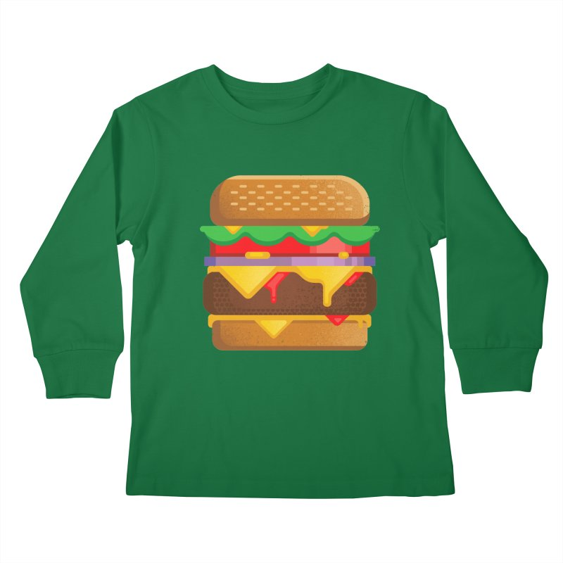 Burger Kids Longsleeve T-Shirt by deliciousdesignleague's Artist Shop
