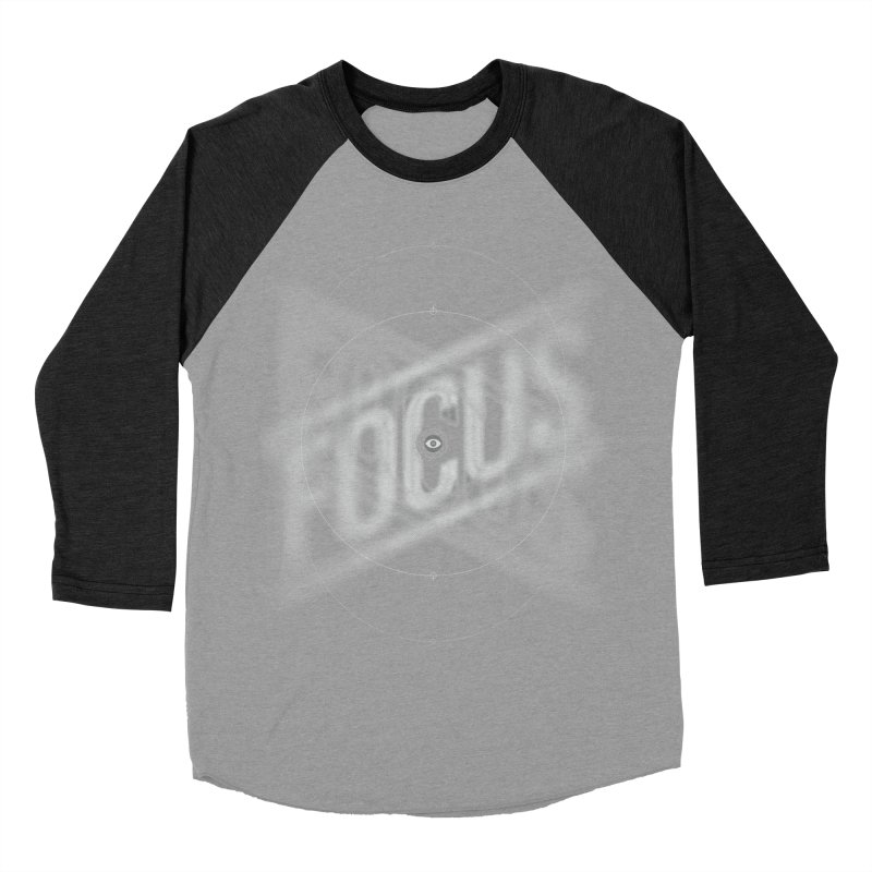 Focus Women's Baseball Triblend T-Shirt by deliciousdesignleague's Artist Shop