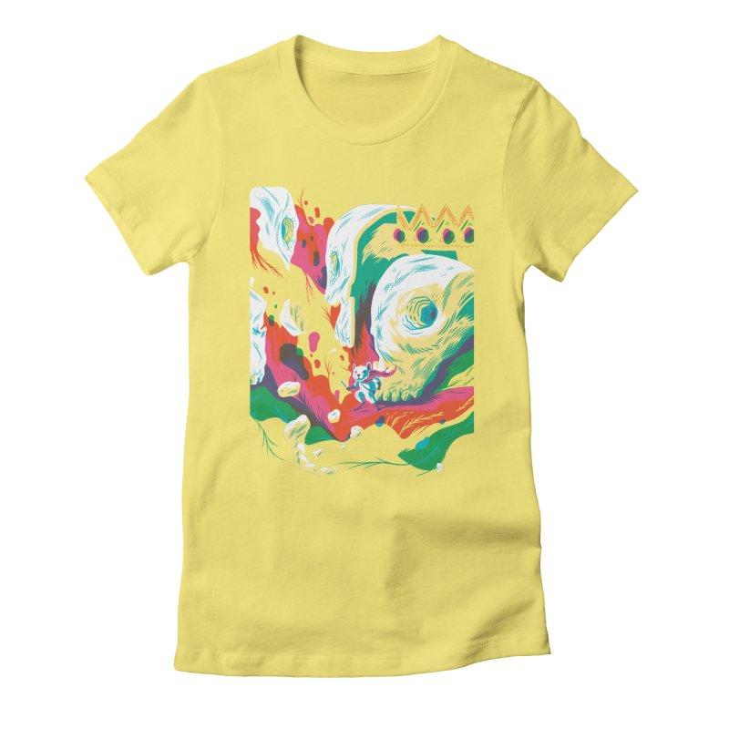 Explorer Women's Fitted T-Shirt by deliciousdesignleague's Artist Shop