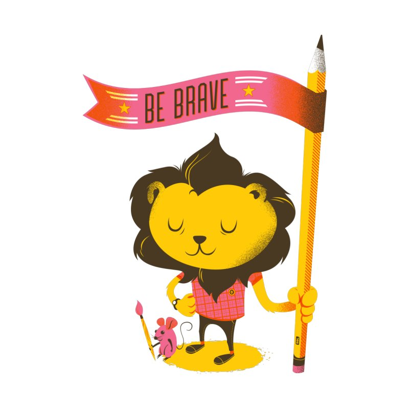 Be Brave Lion Men's T-Shirt by deliciousdesignleague's Artist Shop