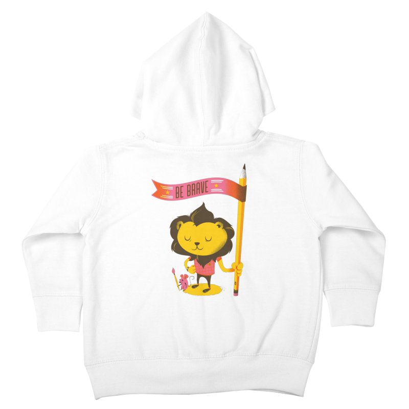 Be Brave Lion Kids Toddler Zip-Up Hoody by deliciousdesignleague's Artist Shop
