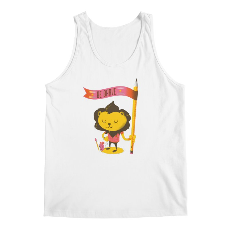 Be Brave Lion Men's Tank by deliciousdesignleague's Artist Shop