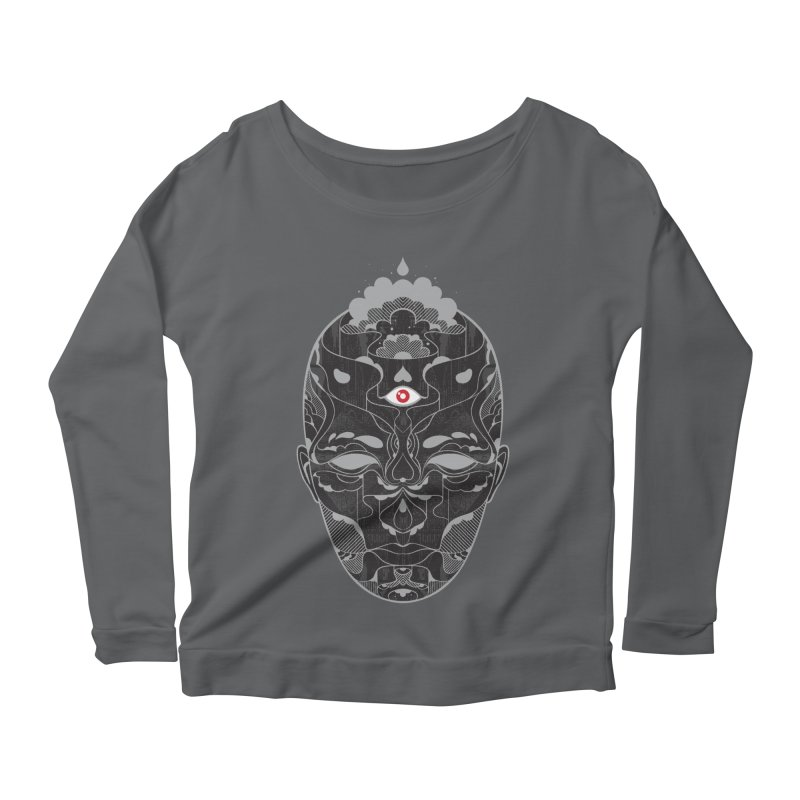 Queen Women's Scoop Neck Longsleeve T-Shirt by Delicious Design Studio