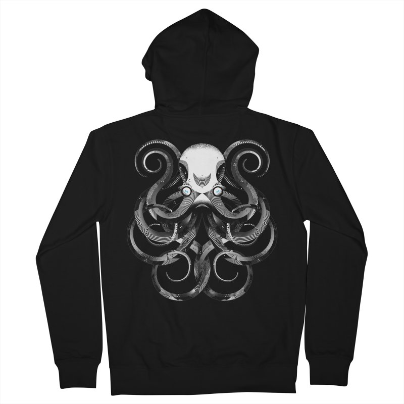 Octopus! Men's French Terry Zip-Up Hoody by deliciousdesignleague's Artist Shop