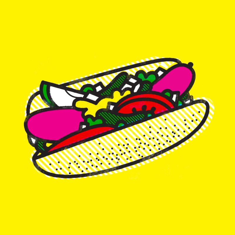 Chicago Dog None  by deliciousdesignleague's Artist Shop