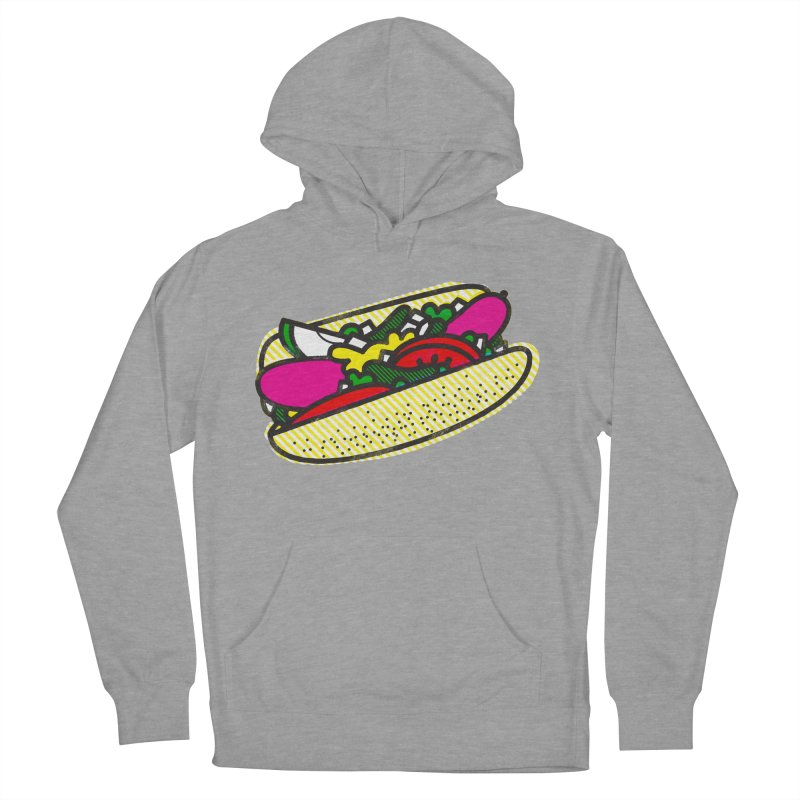 Chicago Dog Men's French Terry Pullover Hoody by Delicious Design Studio