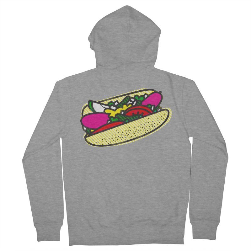 Chicago Dog Men's Zip-Up Hoody by deliciousdesignleague's Artist Shop