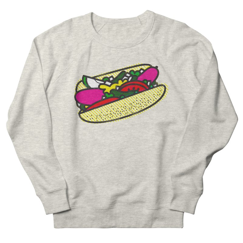 Chicago Dog Women's French Terry Sweatshirt by deliciousdesignleague's Artist Shop