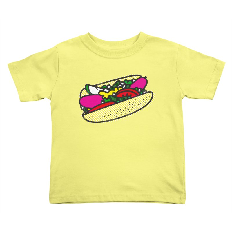 Chicago Dog Kids Toddler T-Shirt by deliciousdesignleague's Artist Shop