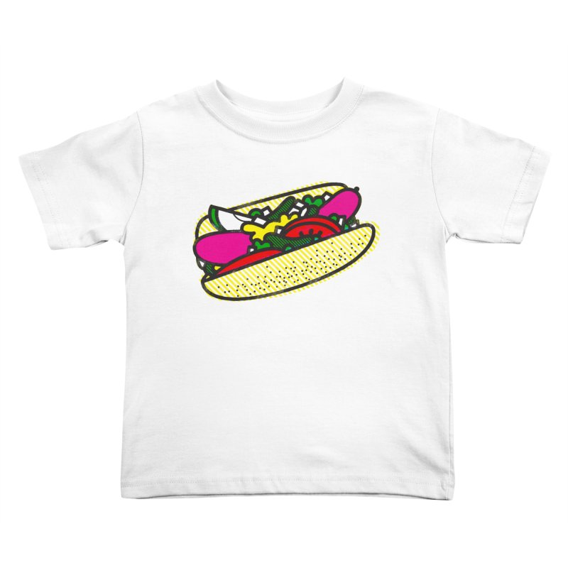Chicago Dog Kids Toddler T-Shirt by Delicious Design Studio