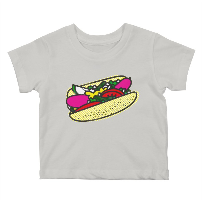 Chicago Dog Kids Baby T-Shirt by deliciousdesignleague's Artist Shop