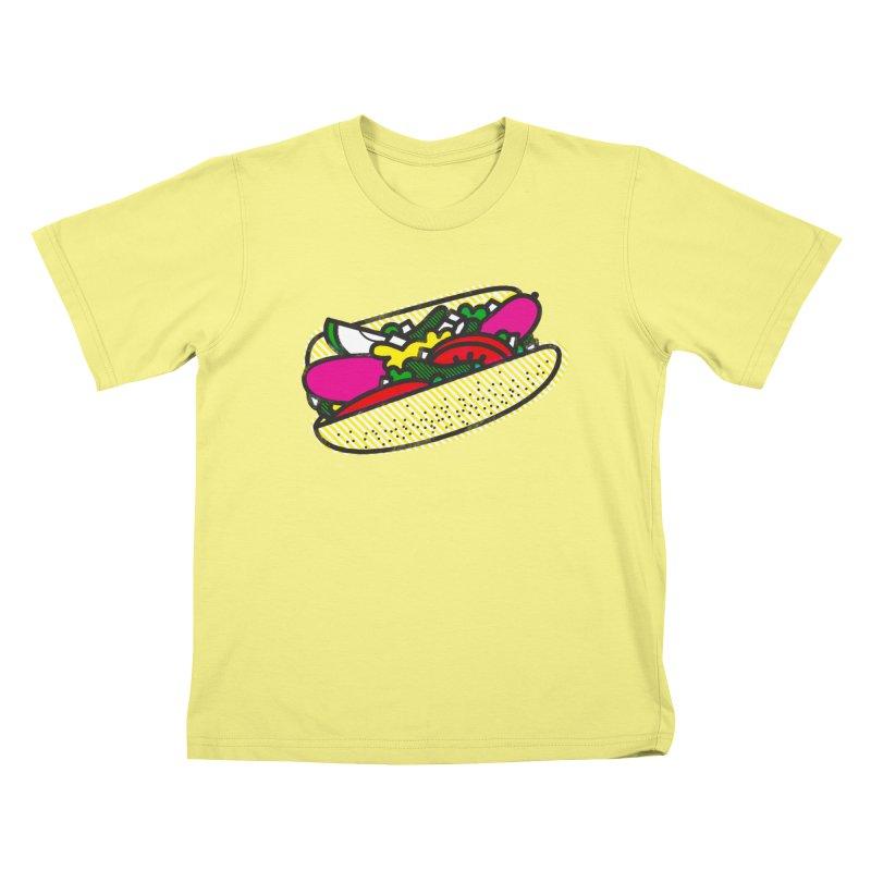 Chicago Dog Kids T-shirt by deliciousdesignleague's Artist Shop