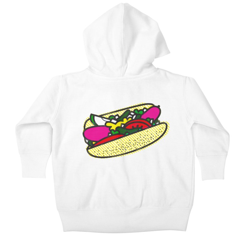 Chicago Dog Kids Baby Zip-Up Hoody by deliciousdesignleague's Artist Shop