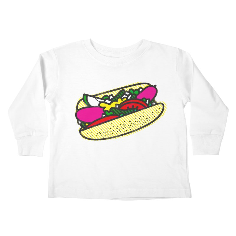 Chicago Dog Kids Toddler Longsleeve T-Shirt by deliciousdesignleague's Artist Shop
