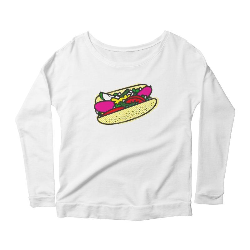 Chicago Dog Women's Scoop Neck Longsleeve T-Shirt by deliciousdesignleague's Artist Shop