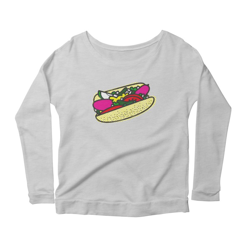 Chicago Dog Women's Longsleeve Scoopneck  by deliciousdesignleague's Artist Shop