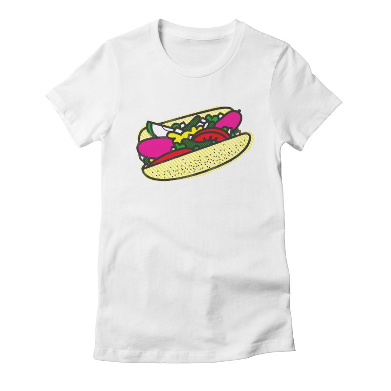 Chicago Dog Women's Fitted T-Shirt by deliciousdesignleague's Artist Shop