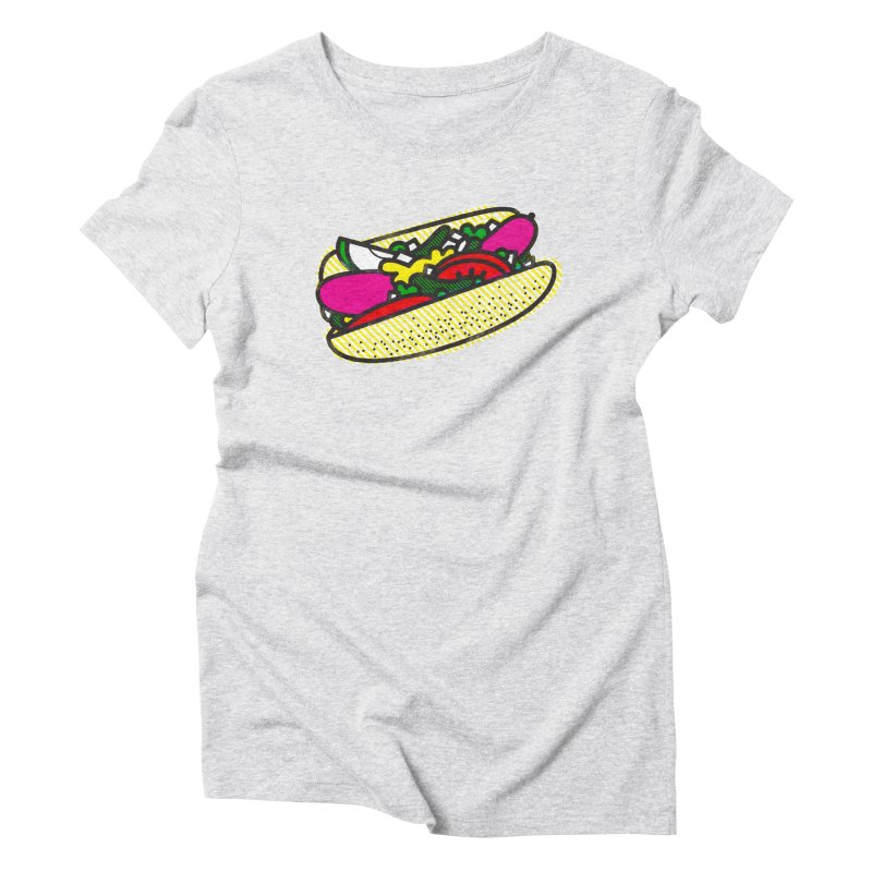 Chicago Dog Women's Triblend T-shirt by deliciousdesignleague's Artist Shop