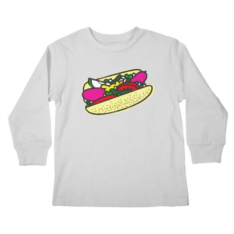 Chicago Dog Kids Longsleeve T-Shirt by Delicious Design Studio