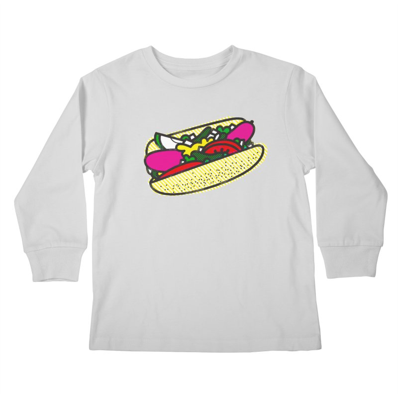 Chicago Dog Kids Longsleeve T-Shirt by deliciousdesignleague's Artist Shop