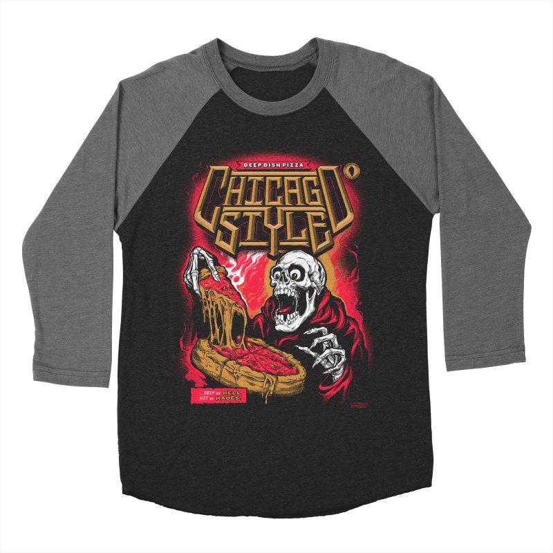 Chicago Style  Men's Baseball Triblend T-Shirt by deliciousdesignleague's Artist Shop