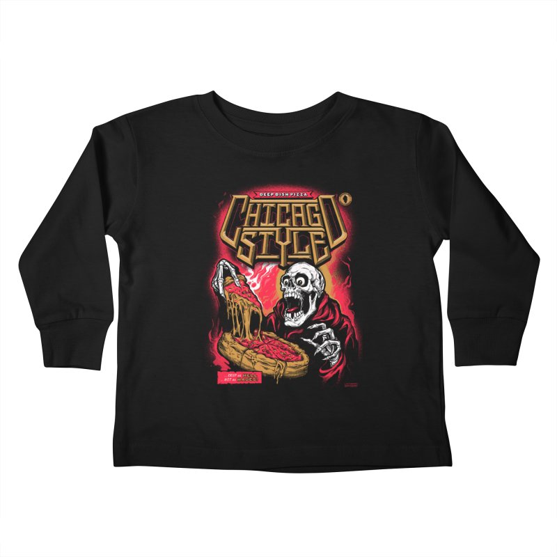 Chicago Style  Kids Toddler Longsleeve T-Shirt by Delicious Design Studio