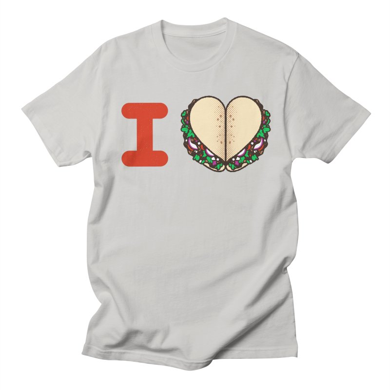 I Heart Tacos Men's T-Shirt by deliciousdesignleague's Artist Shop