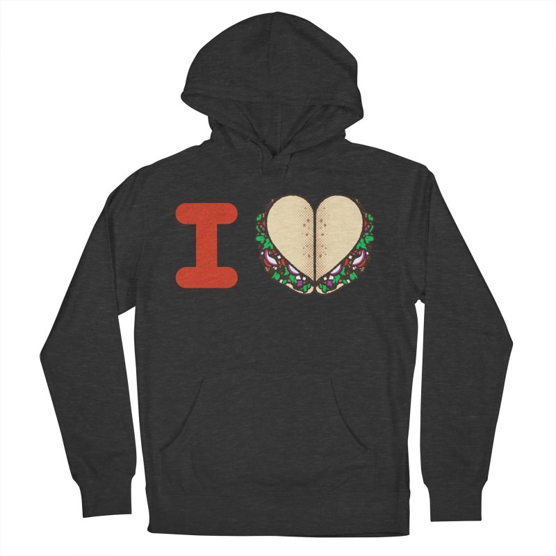 I Heart Tacos Women's French Terry Pullover Hoody by Delicious Design Studio