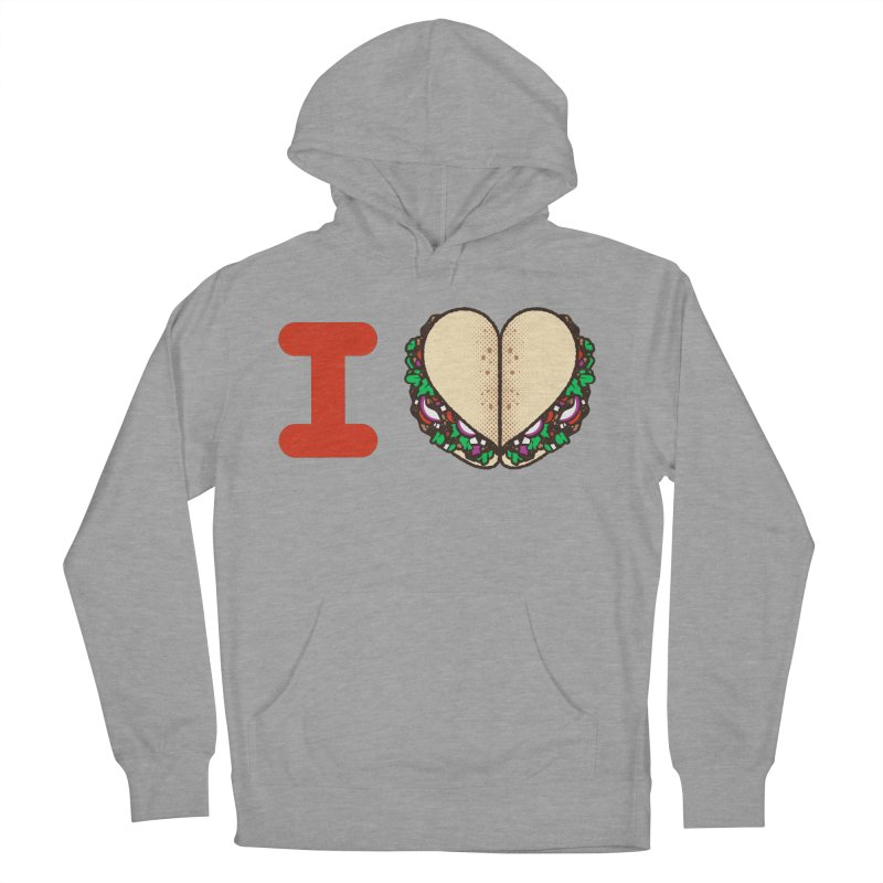 I Heart Tacos Men's French Terry Pullover Hoody by Delicious Design Studio