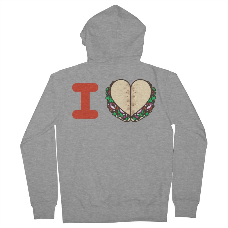 I Heart Tacos Women's French Terry Zip-Up Hoody by Delicious Design Studio