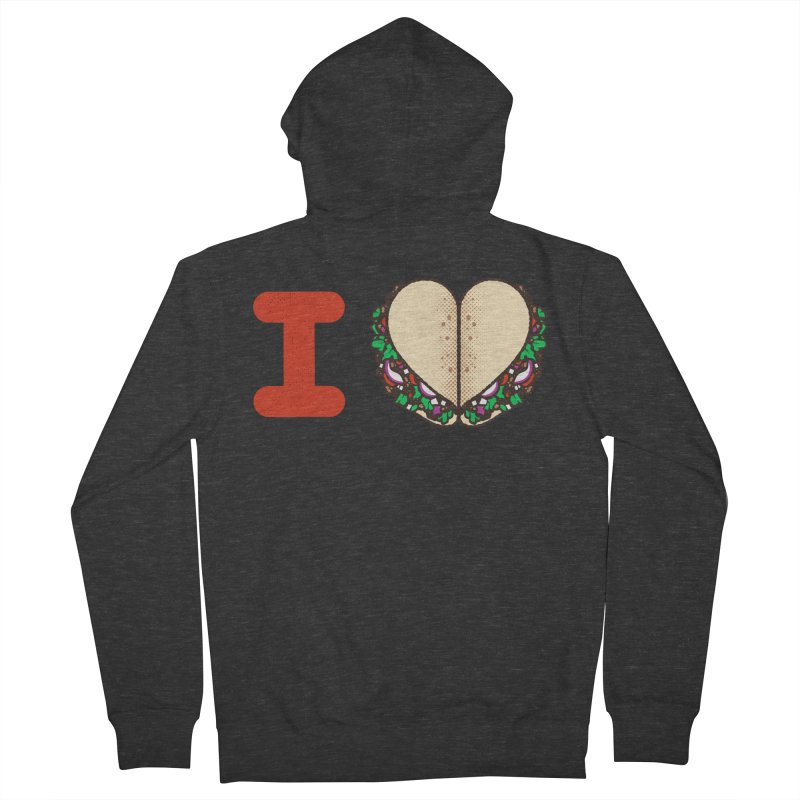 I Heart Tacos Men's French Terry Zip-Up Hoody by deliciousdesignleague's Artist Shop