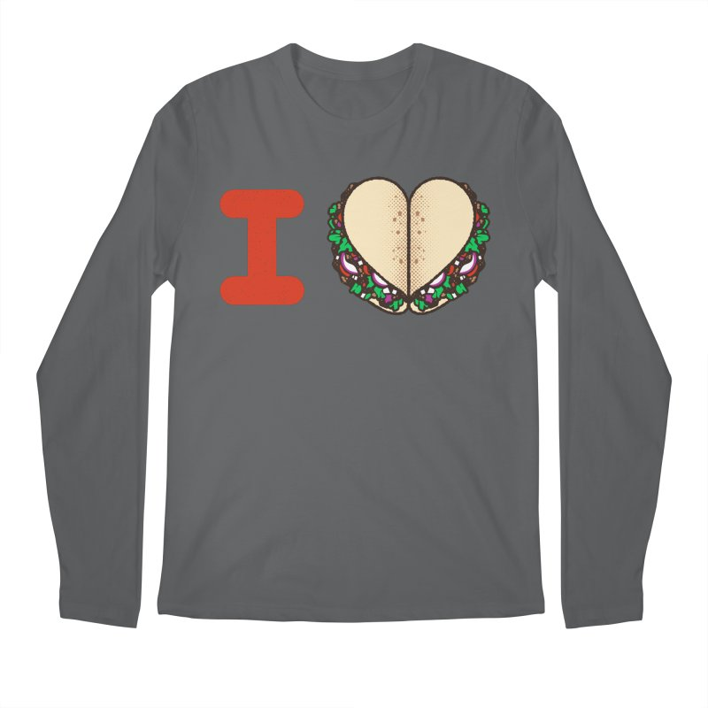 I Heart Tacos Men's Regular Longsleeve T-Shirt by deliciousdesignleague's Artist Shop