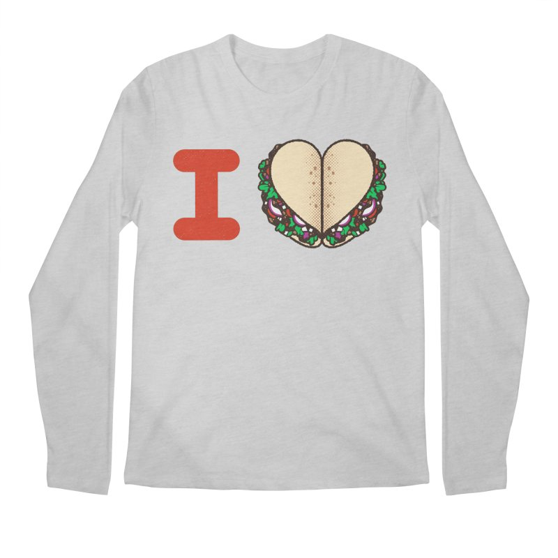 I Heart Tacos Men's Longsleeve T-Shirt by deliciousdesignleague's Artist Shop
